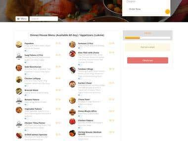 Curryheights web application.