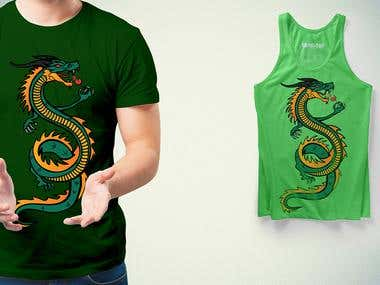 Dragon Wine T-shirt design