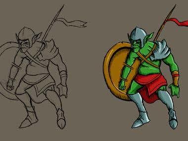 character creation (goblin warrior)