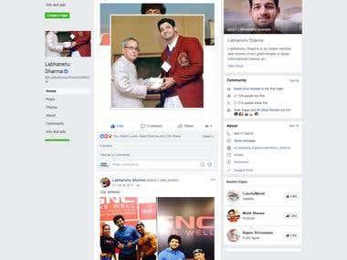 Facebook Page Promotion of Celebrity Wrestler