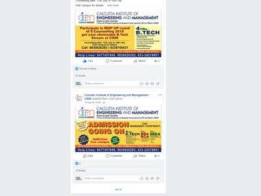 Facebook Page Promotion of an Engineering College in Kolkata