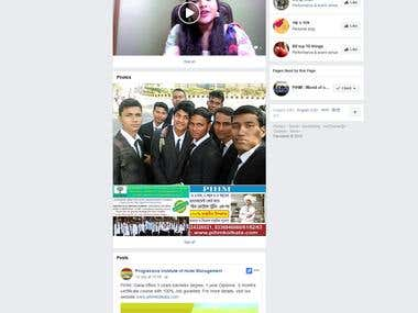 Facebook Page Promotion of a Hotel Management Institution