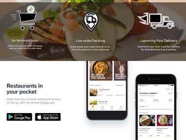 Fully Responsive Food Delivery Website Design
