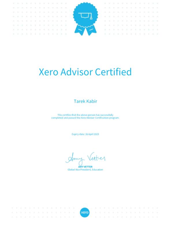 Xero Advisor Certificate Freelancer