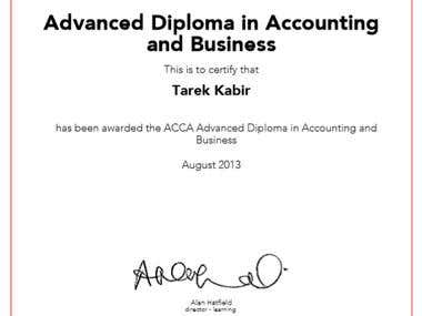 Advanced diploma in accounting & business