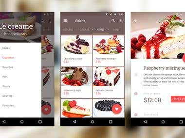 Sweet cakes - UI Design