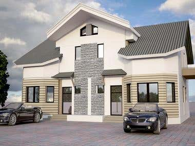 3d Modeling of a house