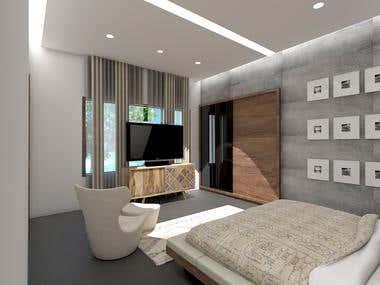Bedroom Interior Design and Rendering