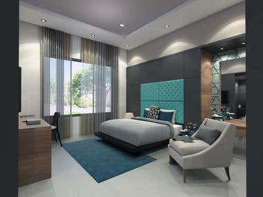 Lavish TEAL Color Theme Master Bedroom