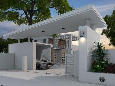 Entrance Area_3d rendering