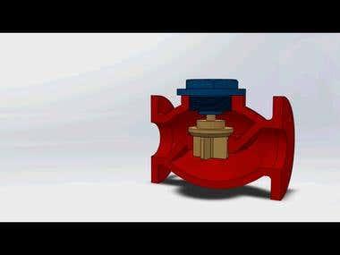 Non return valve at SolidWorks