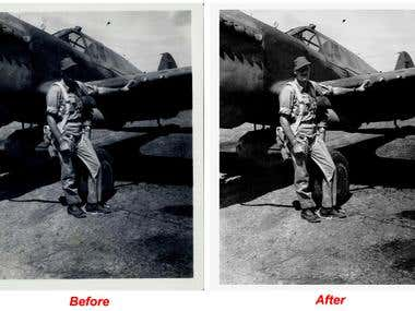 Restoration of a B&W Photo