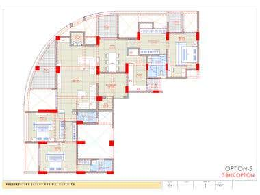 Drafting and Interior layout for a Apartment