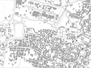Rasterized dwgs for Thesis Project using Google Earth Image