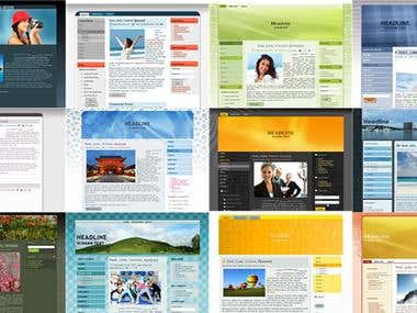 Template creation for popular CMS