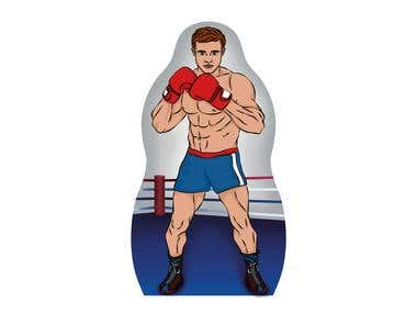 Illustrations for the Inflatable Punching bag for children