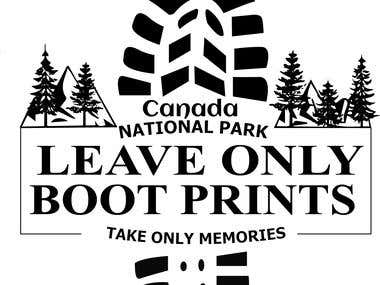 LEAVE ONLY FOOT PRINT