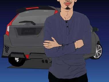 Cartoon Digital Art
