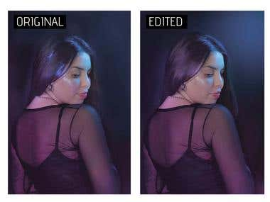 Hair editing in Photoshop