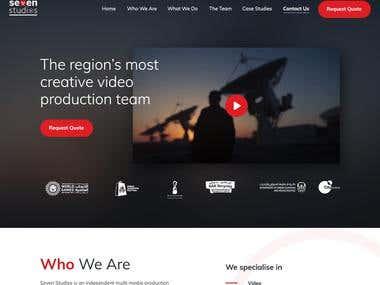 Seven Studios - Web Design