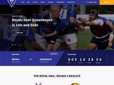 Canberra Royals - Web Design