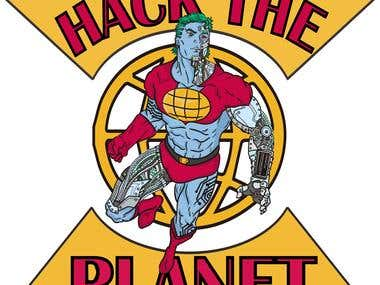 CYber punk Captain Planet