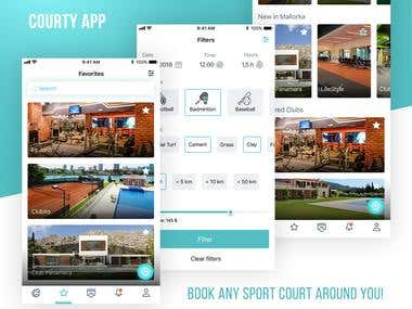 UI/UX ReDesign for CourtyApp. 20 Screens