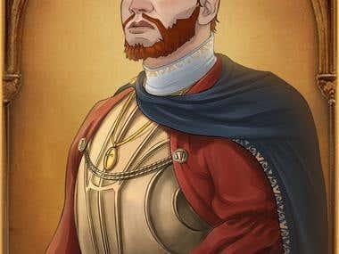 Medieval European Admiral Portrait