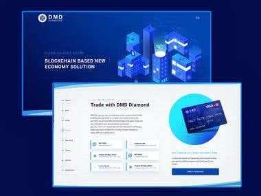 Webdesign DMD landing for cryptocurrency platform