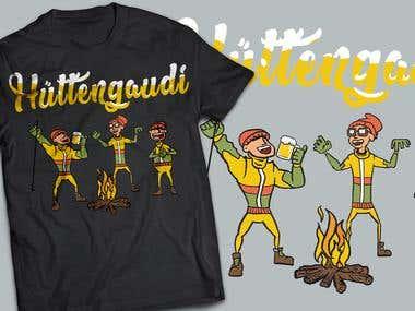 Ski Party T-shirt Design
