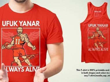 UFUK YANAR tribute T-shirt Design
