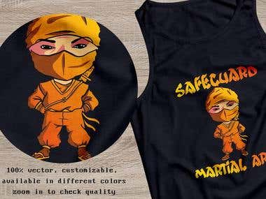 Ninja Club T-shirt Design