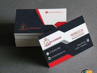 Business Card Designed By Rapidwebhub