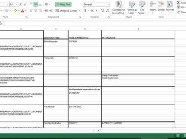 test sample from client to do data scraping job