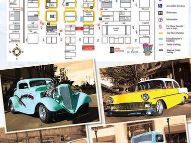 Route 66 Mother road Car Show Layout Page