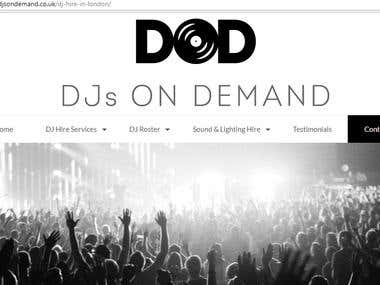 ADDED LANDING PAGES FROM WORDPRESS TO djsondemand.co.uk