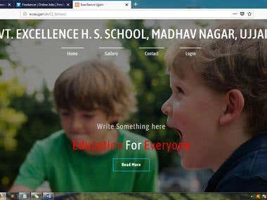 Responsive School Web design with development