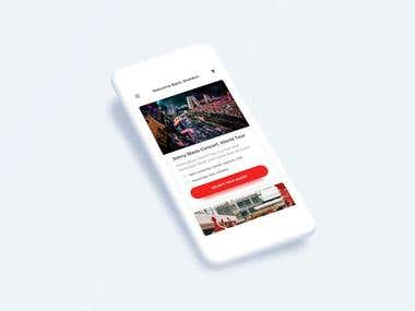 Event Promotor - Mobile UI