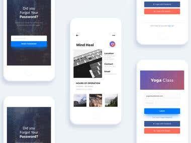 Yoga Class - Mobile UI