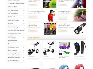 PrestaShop Sports Website