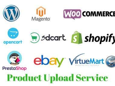 Ecommerce Product uploading service