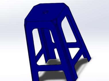Chair in solid works