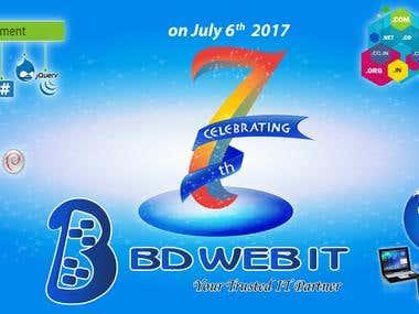 Facebook Cover Design for BDWebIT.com