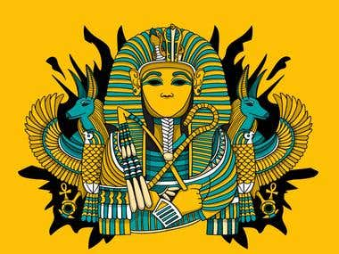 Egyptian Art T-Shirt Design