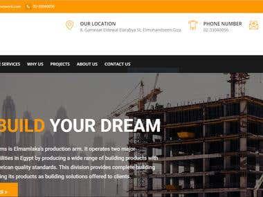 Elmmlaka construction website
