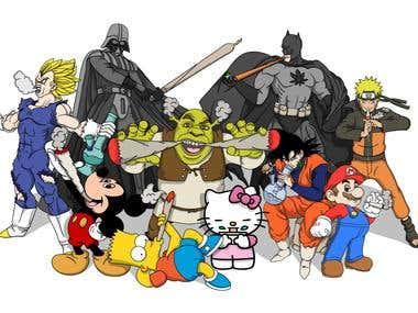 High Cartoons Illustration