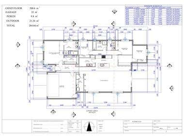 AUTOCAD DRAWING FOR BUILDING CONSTRUACTION