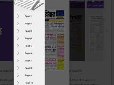 Newspaper Based Android App 10k Downloads