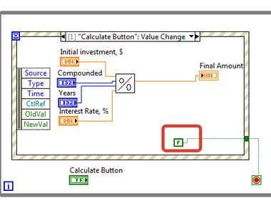 Do LabView exercises and then write a program in LabView