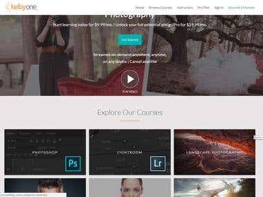 Blog website for Photographer